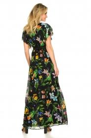 Nenette |  Floral maxi dress Audace | black  | Picture 5