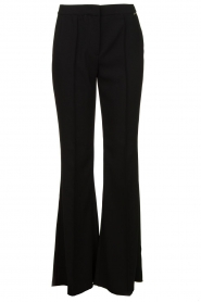 Nenette |  Flared pants Edoardo | black  | Picture 1