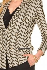Nenette |  Print blazer with lurex Linus | black  | Picture 7