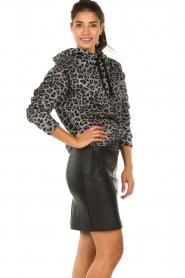Dante 6 |  Leather skirt Eshvi | black  | Picture 5