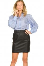 Dante 6 |  Leather skirt Eshvi | black  | Picture 2