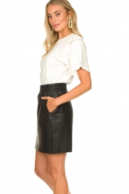 Dante 6 |  Leather skirt Eshvi | black  | Picture 4