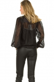 Dante 6 |  See-through blouse with undertop Marylee | black  | Picture 6