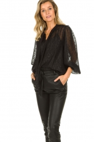 Dante 6 |  See-through blouse with undertop Marylee | black  | Picture 2