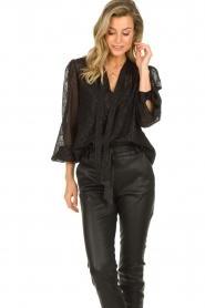Dante 6 |  See-through blouse with undertop Marylee | black  | Picture 4