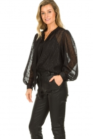 Dante 6 |  See-through blouse with undertop Marylee | black  | Picture 5