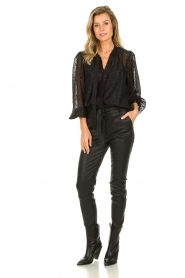 Dante 6 |  See-through blouse with undertop Marylee | black  | Picture 3