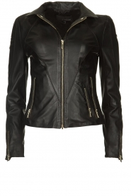 STUDIO AR BY ARMA |  Leather jacket Cherry | black  | Picture 1