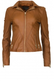 STUDIO AR BY ARMA |  Leather jacket Cherry | brown  | Picture 1