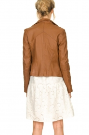 STUDIO AR BY ARMA |  Leather jacket Cherry | brown  | Picture 5