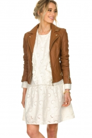 STUDIO AR BY ARMA |  Leather jacket Cherry | brown  | Picture 6