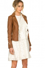 STUDIO AR BY ARMA |  Leather jacket Cherry | brown  | Picture 4