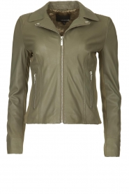 STUDIO AR BY ARMA |  Leather jacket Kendall | green  | Picture 1