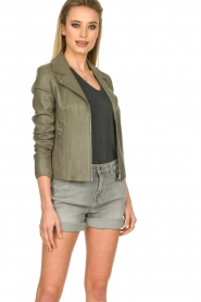 STUDIO AR BY ARMA |  Leather jacket Kendall | khaki  | Picture 2