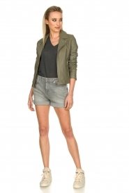 STUDIO AR BY ARMA |  Leather jacket Kendall | khaki  | Picture 3
