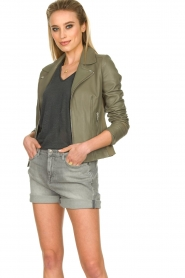 STUDIO AR BY ARMA |  Leather jacket Kendall | khaki  | Picture 5