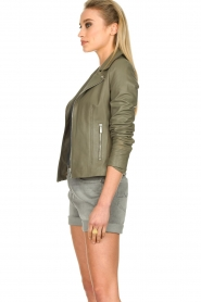 STUDIO AR BY ARMA |  Leather jacket Kendall | khaki  | Picture 6