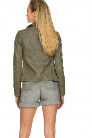 STUDIO AR BY ARMA |  Leather jacket Kendall | khaki  | Picture 7