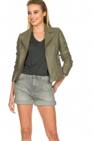 STUDIO AR BY ARMA |  Leather jacket Kendall | khaki  | Picture 4