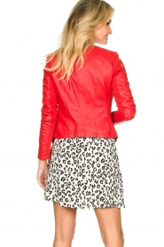 STUDIO AR BY ARMA |  Leather jacket Tuya | red  | Picture 5