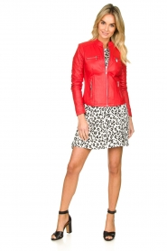 STUDIO AR BY ARMA |  Leather jacket Tuya | red  | Picture 6