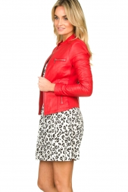 STUDIO AR BY ARMA |  Leather jacket Tuya | red  | Picture 4