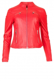 STUDIO AR BY ARMA |  Leather jacket Tuya | red  | Picture 1