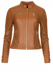 STUDIO AR BY ARMA |  Leather jacket Tuya | brown  | Picture 1