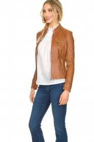 STUDIO AR BY ARMA |  Leather jacket Tuya | brown  | Picture 5