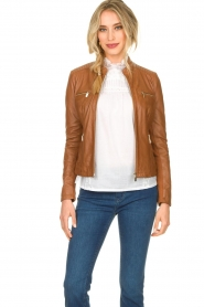 STUDIO AR BY ARMA |  Leather jacket Tuya | brown  | Picture 2