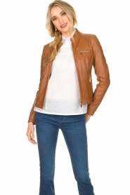 STUDIO AR BY ARMA |  Leather jacket Tuya | brown  | Picture 4