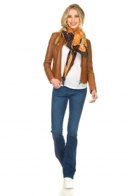 STUDIO AR BY ARMA |  Leather jacket Tuya | brown  | Picture 3