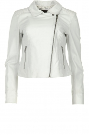 STUDIO AR BY ARMA |  Leather biker jacket Gomera | white  | Picture 1