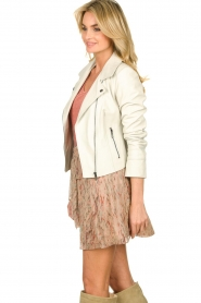 STUDIO AR BY ARMA |  Leather biker jacket Gomera | white  | Picture 5