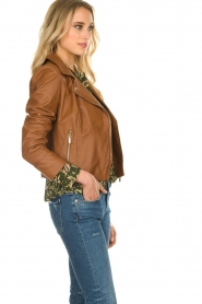 STUDIO AR BY ARMA |  Leather biker jacket Gomera | brown  | Picture 4