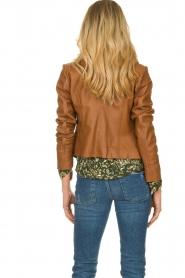 STUDIO AR BY ARMA |  Leather biker jacket Gomera | brown  | Picture 5