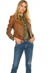 STUDIO AR BY ARMA |  Leather biker jacket Gomera | brown  | Picture 6