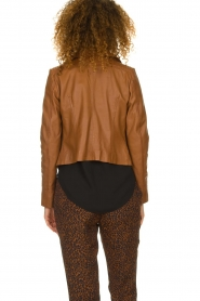 STUDIO AR BY ARMA |  Leather biker jacket Gomera | brown  | Picture 6
