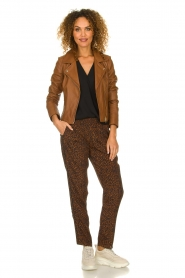 STUDIO AR BY ARMA |  Leather biker jacket Gomera | brown  | Picture 3