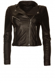 STUDIO AR BY ARMA |  Short leather jacket Gaga | black  | Picture 1