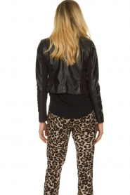 STUDIO AR BY ARMA |  Short leather jacket Gaga | black  | Picture 5