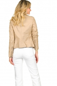 STUDIO AR BY ARMA |  Leather biker jacket Lois | beige  | Picture 7