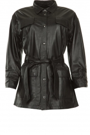 STUDIO AR BY ARMA |  Leather jacket Axelle | black  | Picture 1