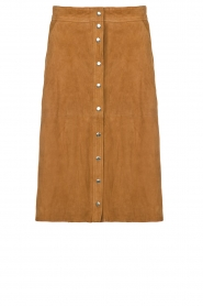 STUDIO AR BY ARMA |  Suede rok Vender | brown  | Picture 1