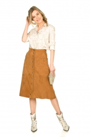 STUDIO AR BY ARMA |  Suede rok Vender | brown  | Picture 3