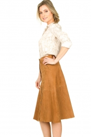 STUDIO AR BY ARMA |  Suede rok Vender | brown  | Picture 5