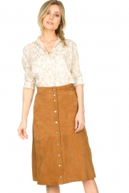 STUDIO AR BY ARMA |  Suede rok Vender | brown  | Picture 4