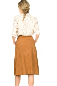 STUDIO AR BY ARMA |  Suede rok Vender | brown  | Picture 6