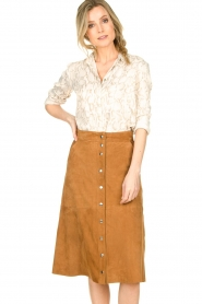 STUDIO AR BY ARMA |  Suede rok Vender | brown  | Picture 2