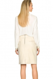STUDIO AR BY ARMA |  Leather skirt Carly | natural  | Picture 7